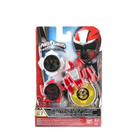 Power Rangers Ninja Steel Power Star Pack with Launcher - Assorted Color